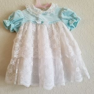 Vintage Roanna Lace Baby Girl Size Dress 24 Months